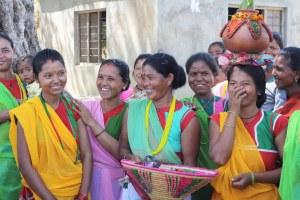 Smiling Nepali women
